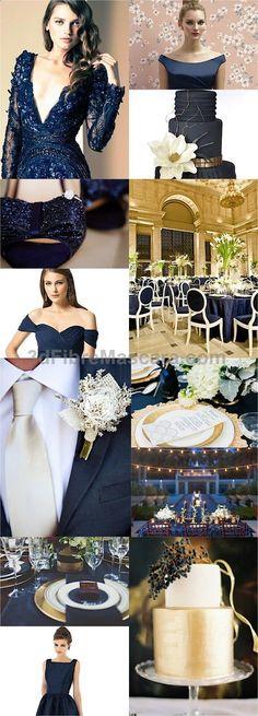 Color Inspiration: Midnight Blue and Navy Wedding Ideas - MODwedding #weddings #wedding #marriage #weddingdress #weddinggown #ballgowns #ladies #woman #women #beautifuldress #newlyweds #proposal #shopping #engagement