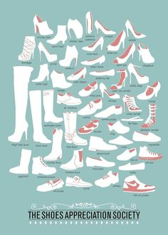 Différents types de chaussures Femme - Le vocabulaire de la chaussure