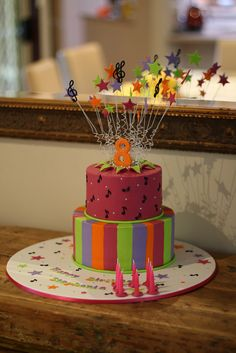 Stephanie's Disco party cake by Ali's cakes, via Flickr