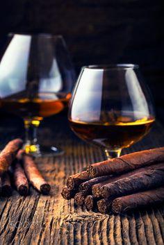 quality cigars and cognac by Adrian Mišiak on 500px