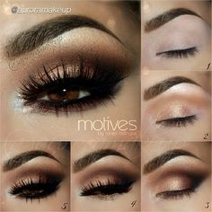 DRESS . Apply top false lashes NOIR FAIRY by . STEP5 Line waterline with Gel Eyeliner in LITTLE BLACK DRESS pulling it out . Set it with Pressed Eye Shadow in ONIX . Blend below lower lashes Pressed Eye Shadow in HAZELNUT Apply bottom falses if you like