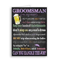 Custom DIY Printable Will You Be My Groomsman by TheVintagePen