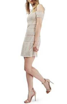 Topshop Circle Lace Cold Shoulder Dress available at #Nordstrom