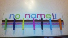 """Make a """"No Name"""" board for homeless homework. 