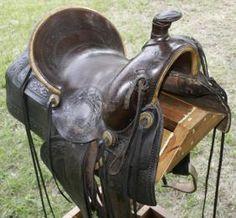 Antique Plantation Saddle | 256 saddle high back old high back saddle seat size 15