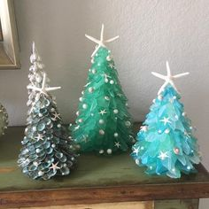 Please note shop banner and processing times Handmade Designer Medium Size Coastal Turquiose Christmas Sea Glass Tree Turquoise Christmas, Coastal Christmas, Glass Christmas Tree, Elegant Christmas, Christmas Crafts, Christmas Decorations, Xmas, Christmas Ornaments, Beach Christmas