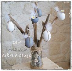 Joli arbre de Pâques qu'on peut utiliser en centre de table car j'aime l'idée des coquilles  où l'on peut mettre des ptites fleurs !