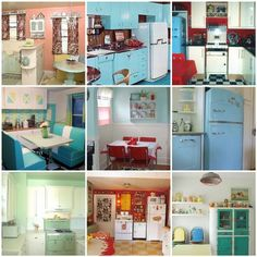 Love vintage kitchens!