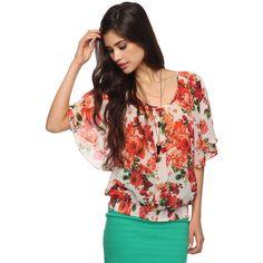 Floral Blouson Top