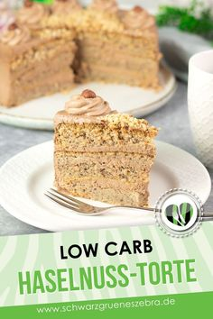 Low Carb Desserts, Low Carb Recipes, Low Carb Torte, Low Fat Low Carb, German Desserts, Lchf, Vanilla Cake, Food And Drink, Meals