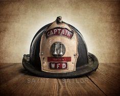 FLASH SALE til MIDNIGHT On Sale Vintage Fireman by shawnstpeter