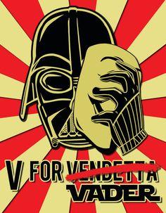 V for Vader.  http://www.facebook.com/GameRoomSupplyWorld