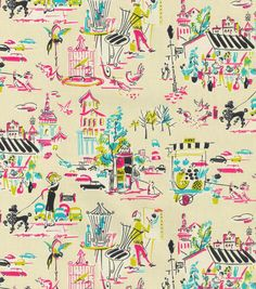 Upholstery Fabric-Waverly Ooh La La Fiesta