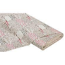 Baumwollstoff 'Vintage/Schrift braun'