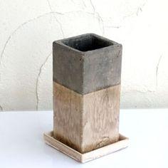 陶器鉢:グニ キューブトール・ホワイトS(受け皿付き) :鉢 プランター 通販 engei.net