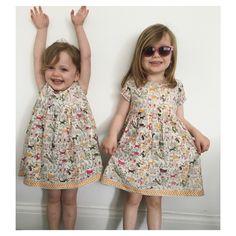7f2958f351 Little girls summer dress www.jabayard.com. Tile print #kurta from Jaba  Yard's ...