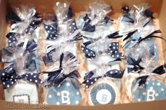 Waiting for Baby B! Party Giveaways, Waiting For Baby, Cookie Packaging, Wedding Souvenir, Edible Art, Wrapping, Goodies, Wraps, Baby Shower