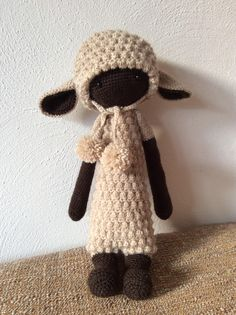 LUPO the lamb made by Alexandra F.-W. / crochet pattern by lalylala