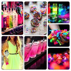 Neon party theme board#2