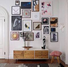 gallery wall. West Elm