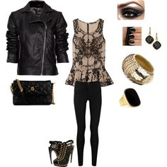 Biker Sheek.. This is a great night out outfit