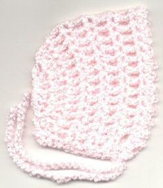 Bonnet with tie easy - Do mommies put their babies in bonnets? This looks fun to make.