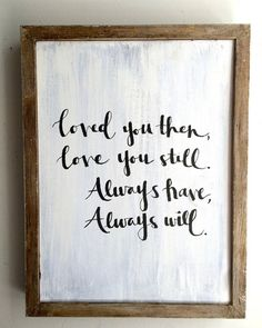 framed wall quotes about love