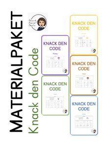 Materialpaket: Knack den Code – Unterrichtsmaterial in den Fächern Deutsch & Fachübergreifendes Bullet Journal, Coding, Learning To Write, Multiplication Tables, Teaching Materials, Teachers, Deutsch, Programming