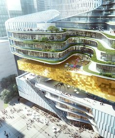 Aedas' mixed-use development for chinese publisher references rolled book scrolls Form Architecture, Residential Architecture, Chongqing, Commercial Complex, Mixed Use Development, Mall Design, Curved Lines, Marketing Strategies, Marketing Plan