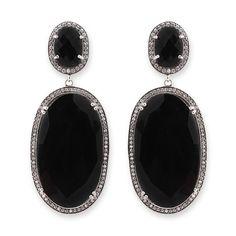 Black Onyx Earrings - hardtofind.