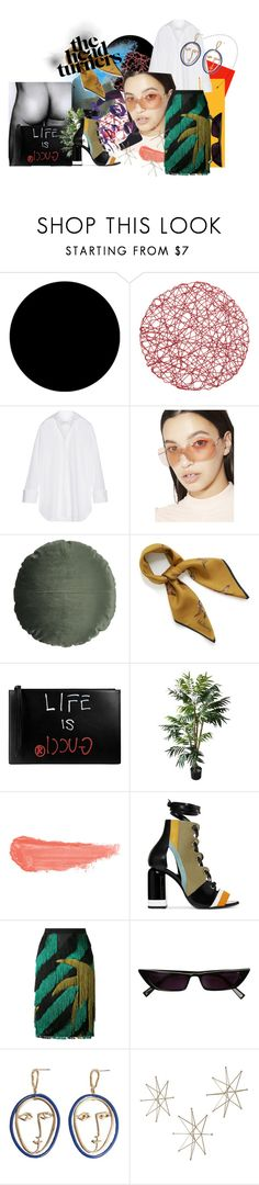 """""""We Outchea"""" by thestylishintrovert on Polyvore featuring Wall Pops!, Marques'Almeida, Replay, 3ina, Mulberry, Gucci, By Terry, Pierre Hardy, Marco de Vincenzo and MANGO"""