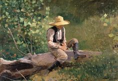 The Whittling Boy 1873 by Winslow Homer
