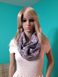 Grey paisley infinity scarf.  Equally perfect by Beckysscarfshop, $15.00 Paisley Scarves, Infinity, Trending Outfits, Grey, Unique, Clothes, Vintage, Fashion, Gray