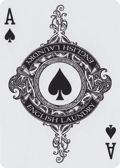 The Ace of Spades from English Laundry Playing Cards