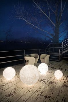 Lampada da terra in Nebulite® EX MOON by In-es.artdesign