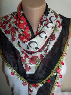BLACK  DaisyGorgeous Turkish Traditional by colourfulrose on Etsy, $22.90