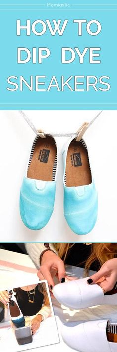 How To Dip Dye Sneakers For a Stylish Twist On Plain White Shoes, Diy And Crafts, How to dip dye sneakers DIY. New Nike Shoes, On Shoes, Plain White Shoes, Dip Dye Shirt, Shoe Crafts, Diy Crafts, Nike Design, Diy Fashion Accessories, Nike Joggers