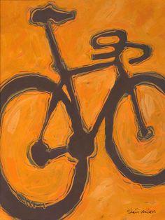 Road Bike Original Painting by Shelli Walters