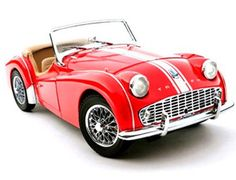"""The Kyosho Triumph TR3A Red, is a diecast model car from this superb diecast model manufacturer, in 1/18th scale.    Kyosho pride themselves on making quality, highly detailed die cast collectibles of the world's most sought after automobiles.    From a classic Mini to a sleek Audi, every model has the same amount of """"behind the scenes"""" work done to ensure everything is correct, compared against the original."""