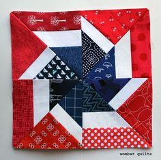 Fireworks pinwheel block