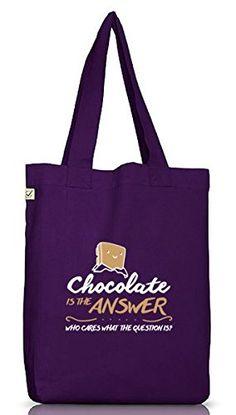 Shirtstreet24, Chocolate Is The Answer, Jutebeutel Stoff Tasche Earth Positive (ONE SIZE), Größe: onesize,Dark Violet - http://herrentaschenkaufen.de/shirtstreet24/one-size-shirtstreet24-chocolate-is-the-answer-4