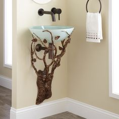 Golden Forest Wrought Iron Wall Mount Sink Holder