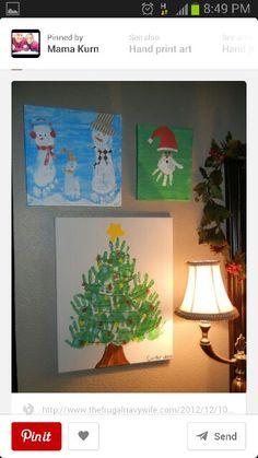Christmas hand art