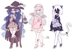 Halloween adoptables [CLOSED] by mellowshy