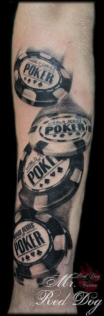 Poker Chips Tattoo! #poker #tattoo www.casinosolutionpro.com #wsop