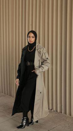 Business Casual Outfits, Cute Casual Outfits, Chic Outfits, Fashion Outfits, Modest Fashion, Mafia Outfit, Black Hijab, Stylish Hijab, Hijab Fashionista