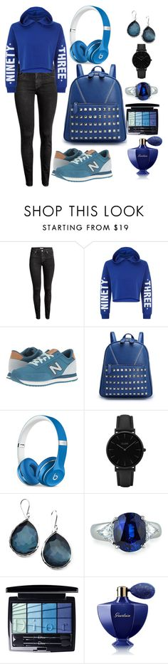 """""""School Blue"""" by daniellecarso ❤ liked on Polyvore featuring H&M, New Look, New Balance Classics, Beats by Dr. Dre, CLUSE, Ippolita, Fantasia by DeSerio, Christian Dior and Guerlain"""