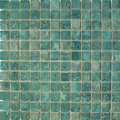 "Turquoise Tile watercolors aqua 1"" x 2"" glossy glass pool tile   pools"