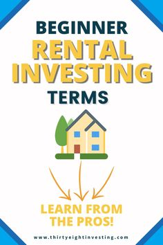 Beginner rental investing terms. Investing terminology for beginners! List of finance terms. Selling Real Estate, Real Estate Investing, Negative Numbers, Small Business Organization, Doctor Office, Commercial Real Estate, Investing Money, School Fun, Being A Landlord