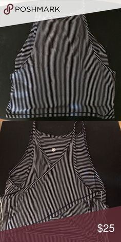 """Lululemon Crop Top Lululemon """"rare"""" cropped top with illusion wrapped back. Lightly worn (to teach barre classes) - in great condition. Runs slightly small. Form fitted. lululemon athletica Tops Crop Tops"""